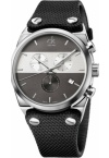 CALVIN KLEIN Eager Black Leather Chronograph K4B374B3
