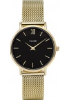 Cluse Minuit Mesh Gold/Black CL30012