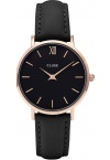 Cluse Minuit Rose Gold Black/Black CL30022